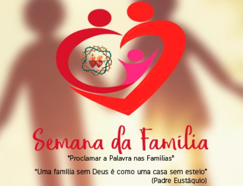 Pastorais e movimentos do Santuário da Saúde e da Paz organizam Semana da Família